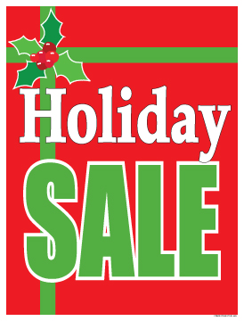 274x360 Christmas Sale Signs Posters 22x28 Holiday Sale (Gift)