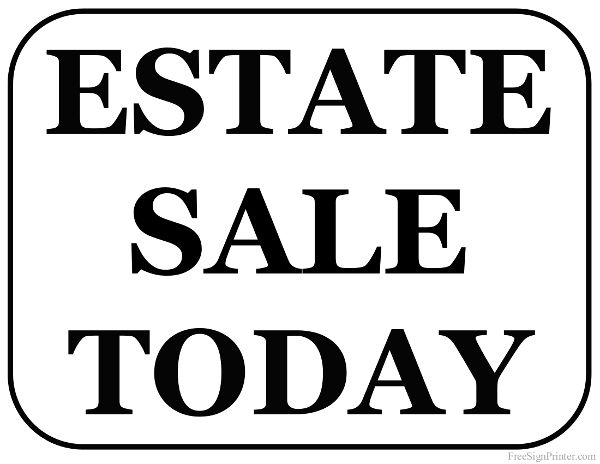 600x464 12 Best Estate Sale Signs Images Decor Ideas, Free