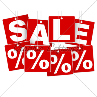 325x325 Sale Signs Gl Stock Images
