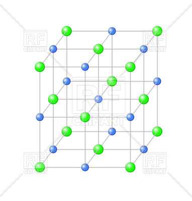 382x400 Structure Of Chemical Crystal Lattice Of Sodium Chloride Salt