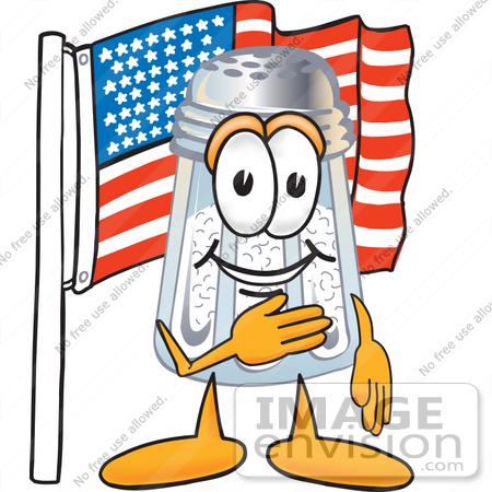 450x450 Clip Art Graphic Of A Salt Shaker Cartoon Character Pledging