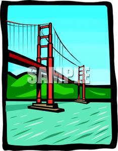234x300 Art Image The Golden Gate Bridge In San Francisco, California