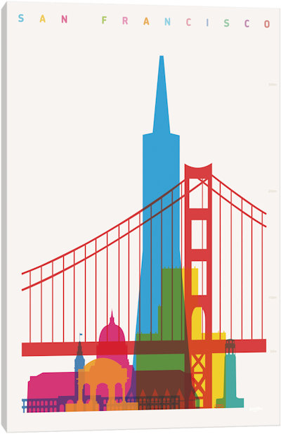 400x617 San Francisco Canvas Wall Art Icanvas