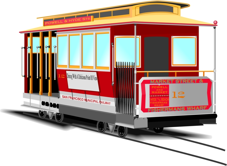 768x563 San Francisco Trolley Clip Art Cliparts