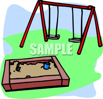 350x339 Playground Toys Sandbox And Swing Set