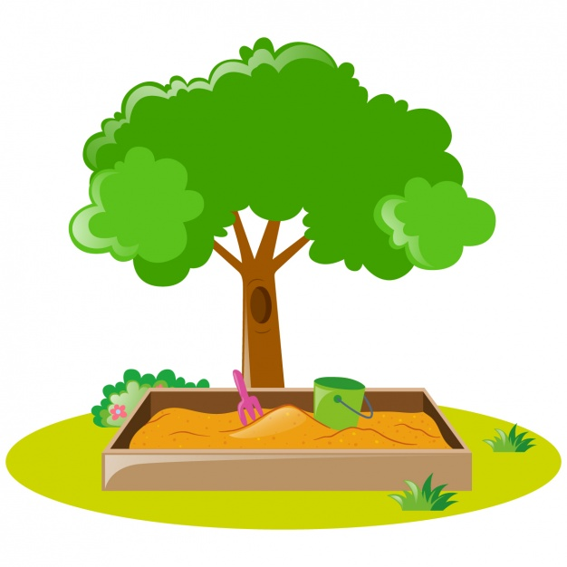 626x626 Tree And Sandbox Design Vector Free Download