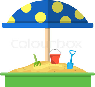 320x292 A Sandbox Stock Vector Colourbox