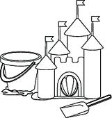 161x170 Clipart Of Sand Castle Sketch K10380731