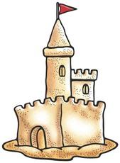 169x230 Sand Castle Clip Art
