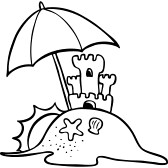 168x168 Sand Castle Clipart Black And White