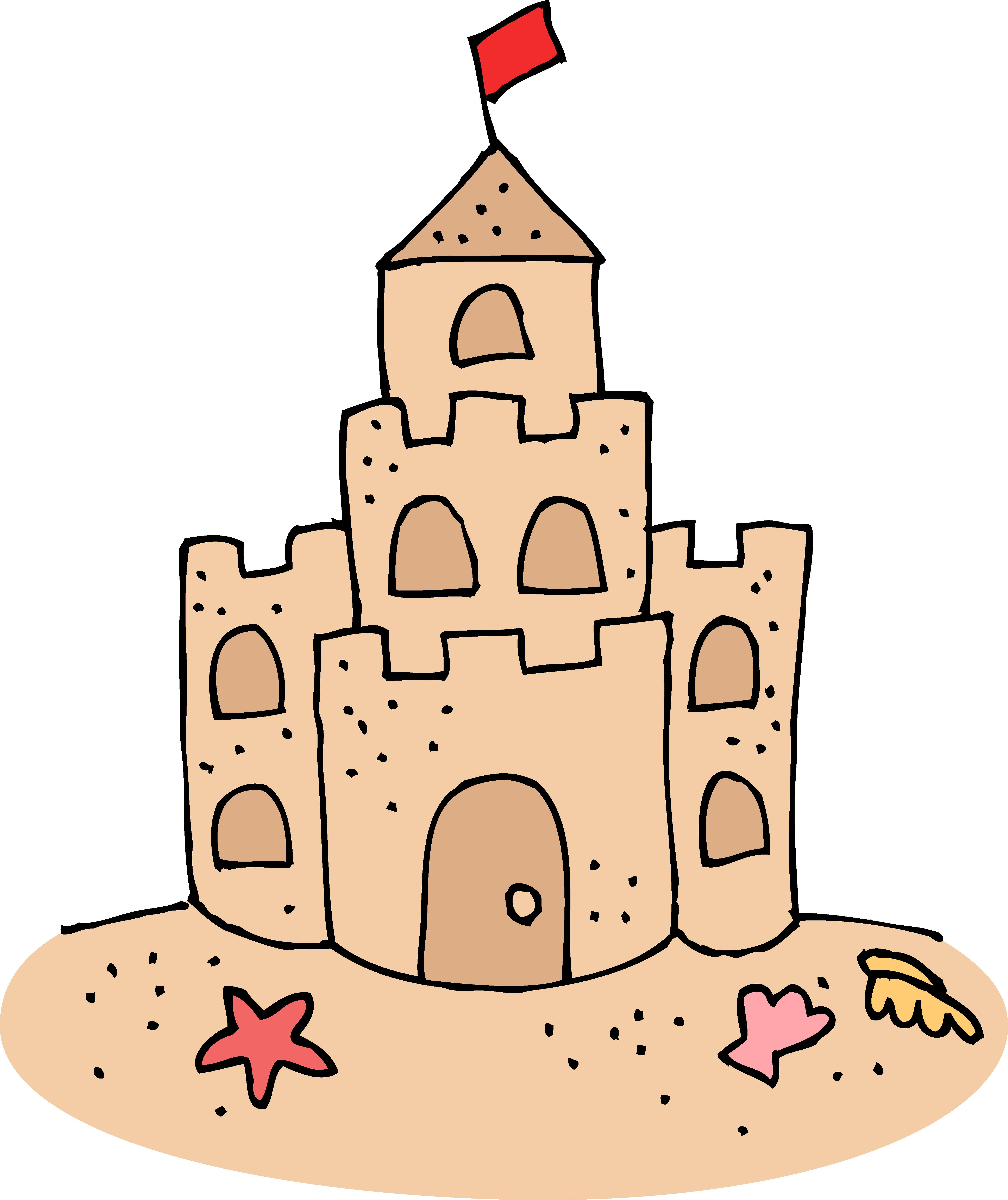 4879x5808 Season Clipart Sand Castle