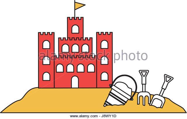 640x407 Color Silhouette Sand Castle Flag Stock Photos Amp Color Silhouette