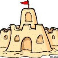 200x200 Sand Castle Clipart