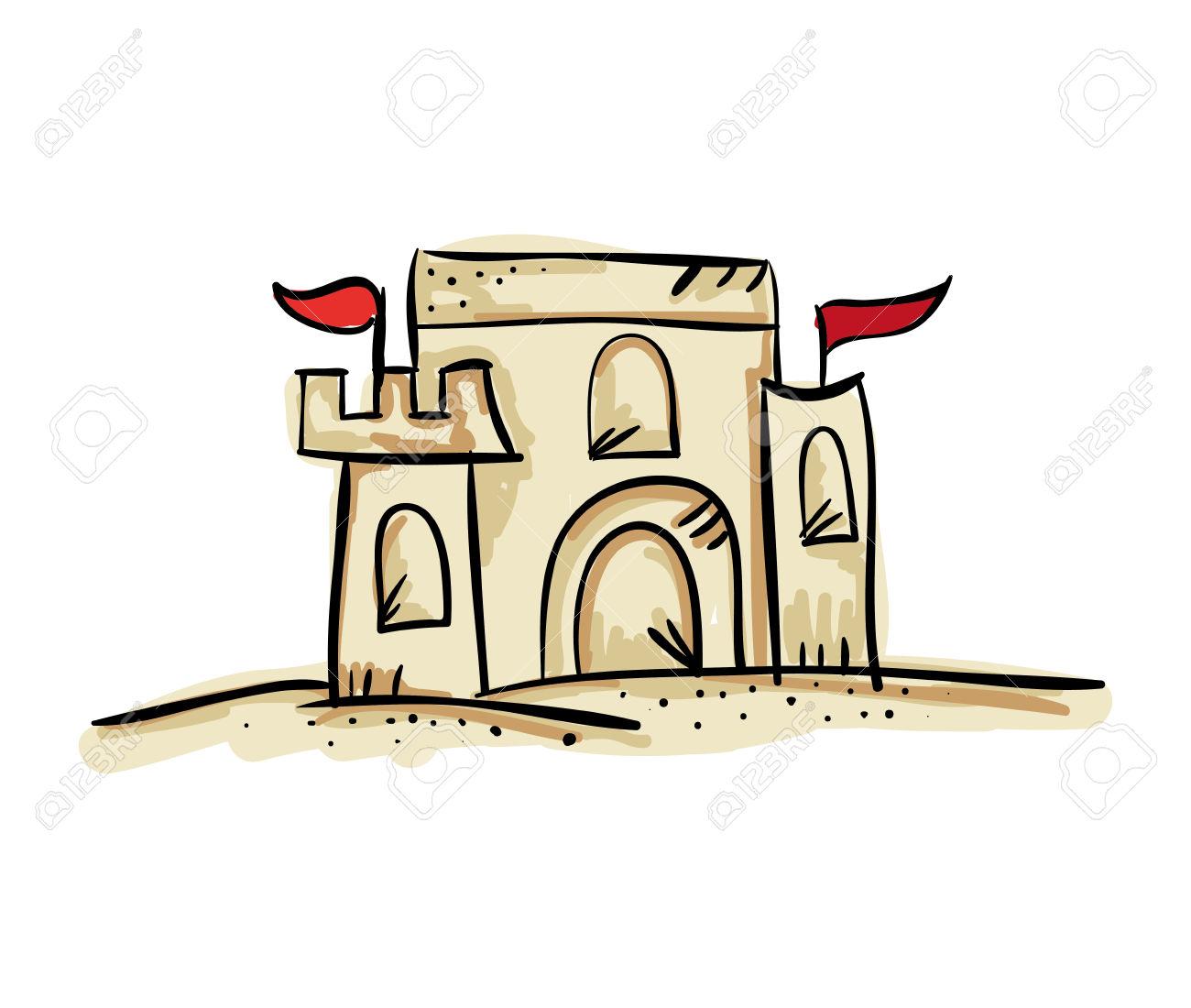 1300x1100 Sand Castle Clipart Summer Activity