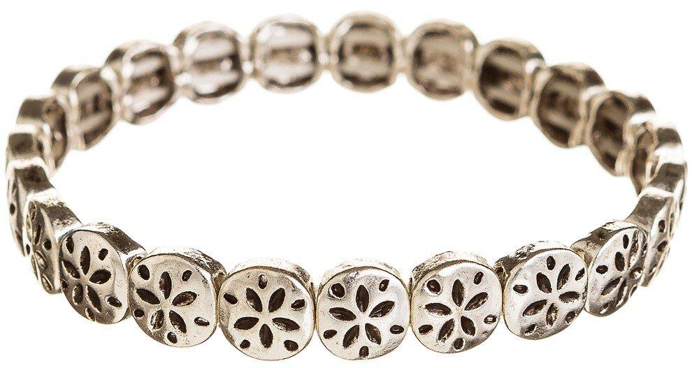 1000x527 Silver Sand Dollars Bracelet Wholesale B1090s