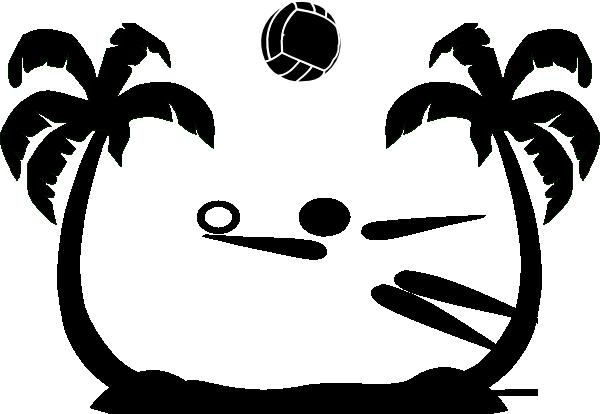 600x414 Beach Volleyball Clip Art