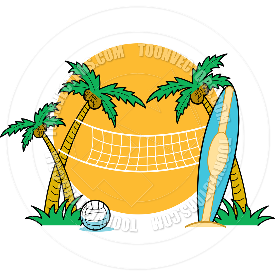 940x940 Beach Volleyball Clipart