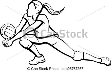 450x289 Volleyball Dig Clipart