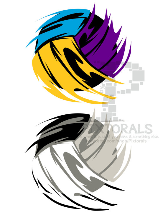 570x738 Volleyball Eps File Vector And Jpeg Png Sketchy By Pixtorals