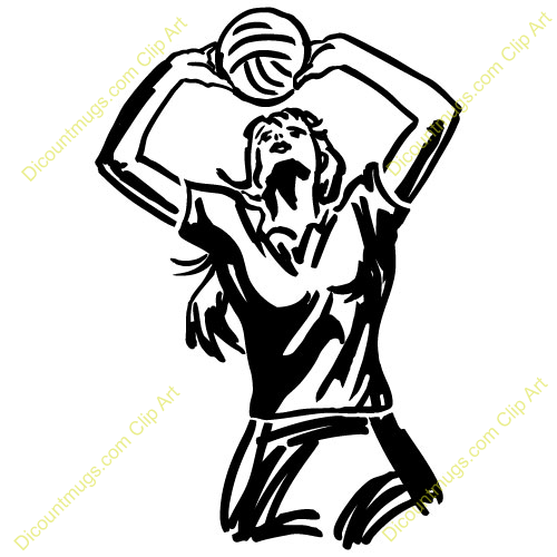 500x500 Womens Volleyball Clipart
