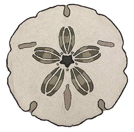 463x458 Sand Dollar Seashell Shape Area Accent Bath