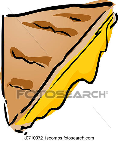 392x470 Clip Art Of Grilled Cheese Sandwich K0710072