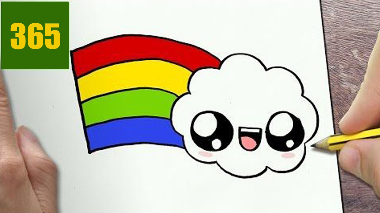1280x720 How To Draw A Rainbow Cute, Easy Step By Step Drawing Lessons