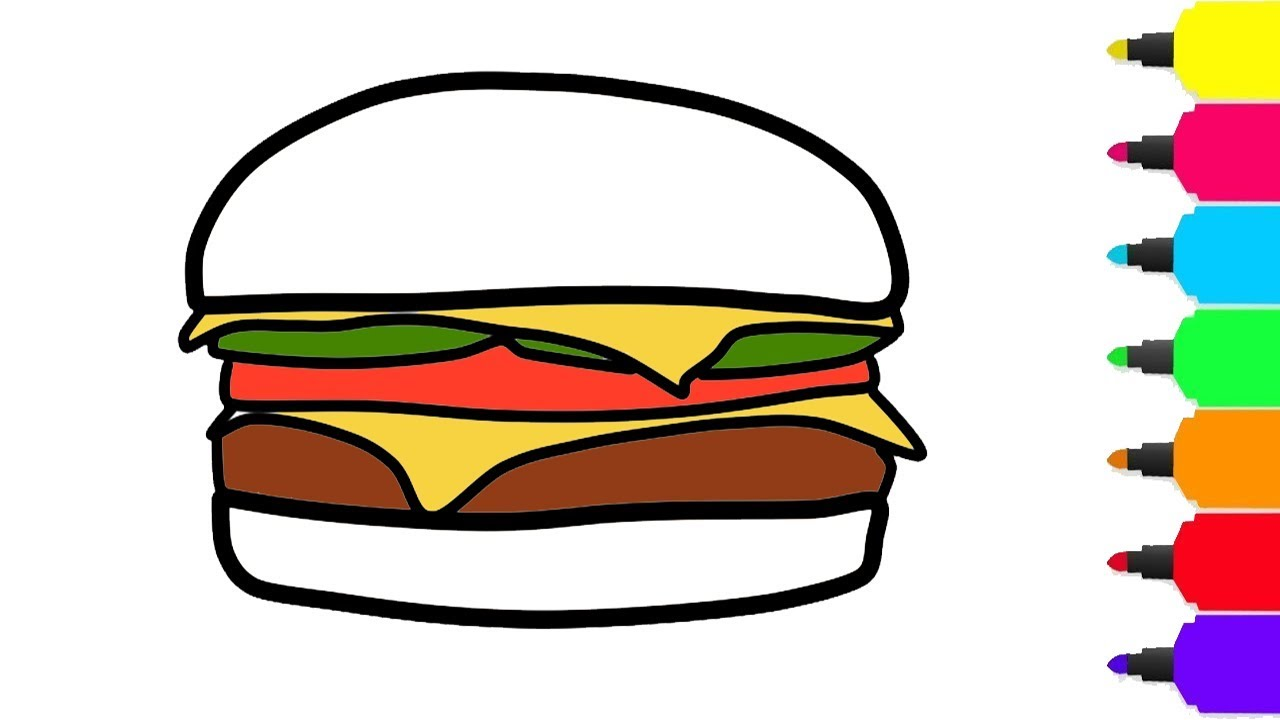 1280x720 How To Draw Hamburger