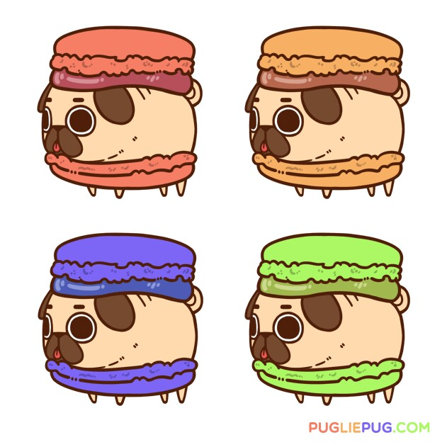 631x631 Pugrons Pug Dogs Kawaii, Dog And Drawings