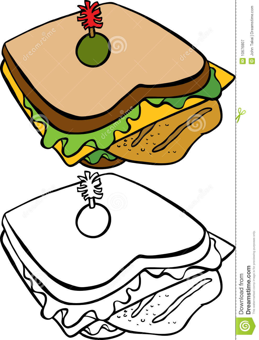 990x1300 Sandwich Wrap Drawing Clipart Panda