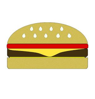 308x320 The Best Hamburger Drawing Ideas Fast Food By