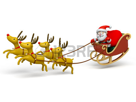450x338 Santa Claus In His Sleigh Stock Photo, Picture And Royalty Free