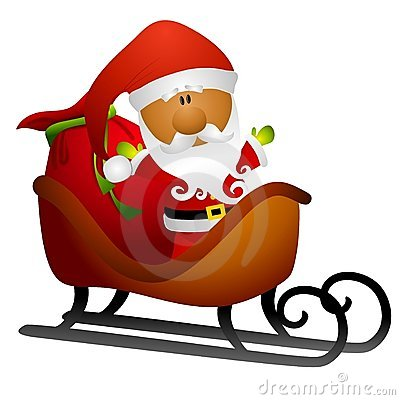 400x400 Santa In His Sleigh Clipart