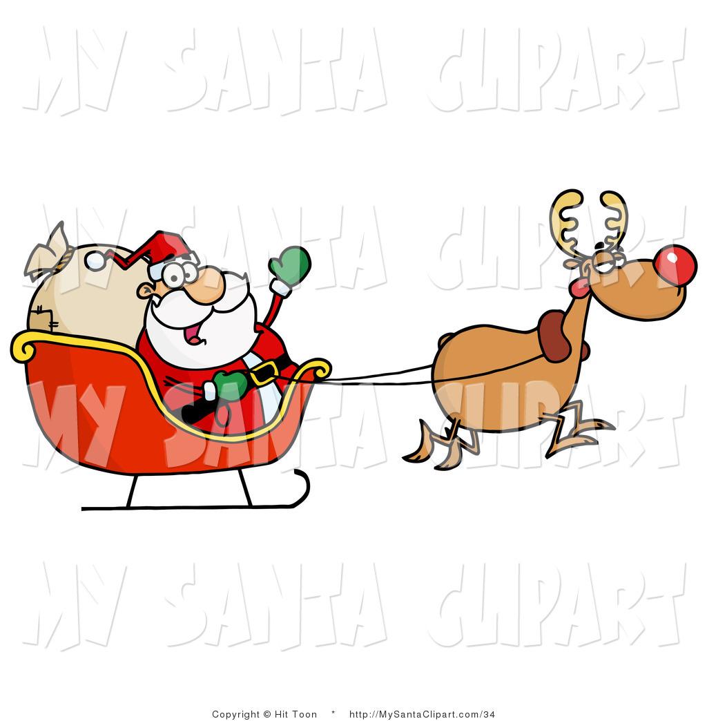 1024x1044 Santa Sleigh Clipart