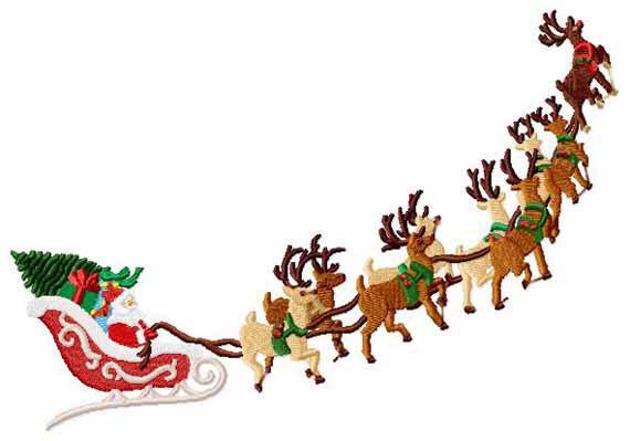 570x399 Sleigh Clipart Reindeer Sleigh