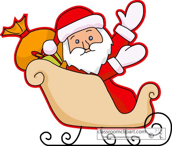 550x467 Sleigh Clipart Santa's Slay