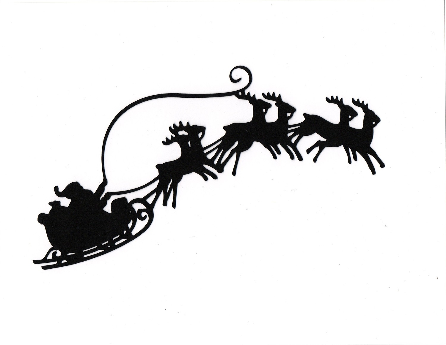 1500x1162 Santa Flying In His Sleigh Clipart