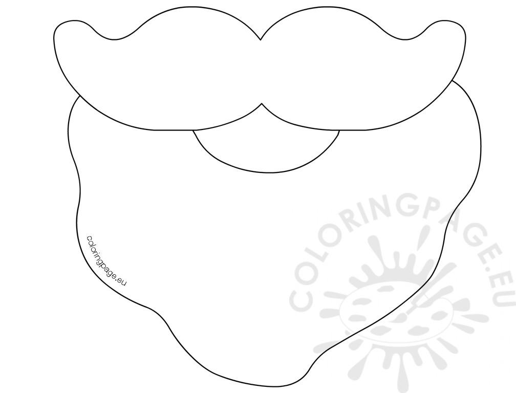 beard coloring pages   Santa Beard Clipart   Free download best Santa Beard ...