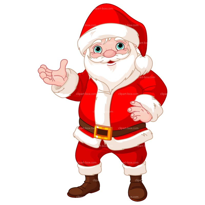 800x800 Cartoon Santa Clipart