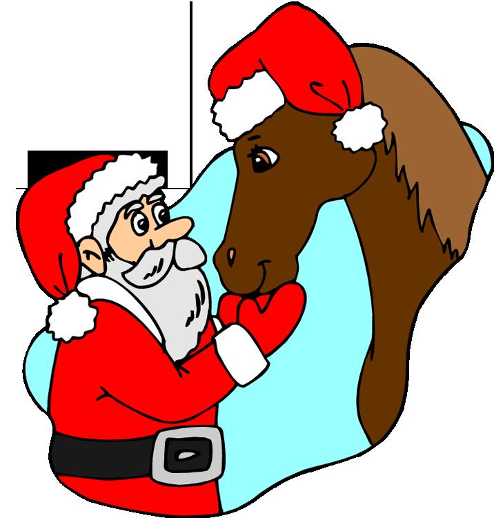716x750 Christmas Horse Clipart