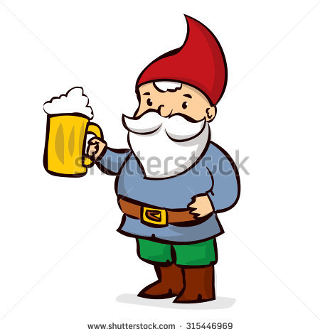 450x470 Drawn Santa Beer