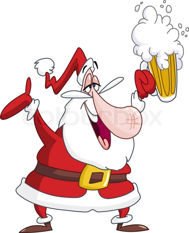 650x800 Drunk Santa Claus With Beer Stock Vector Colourbox