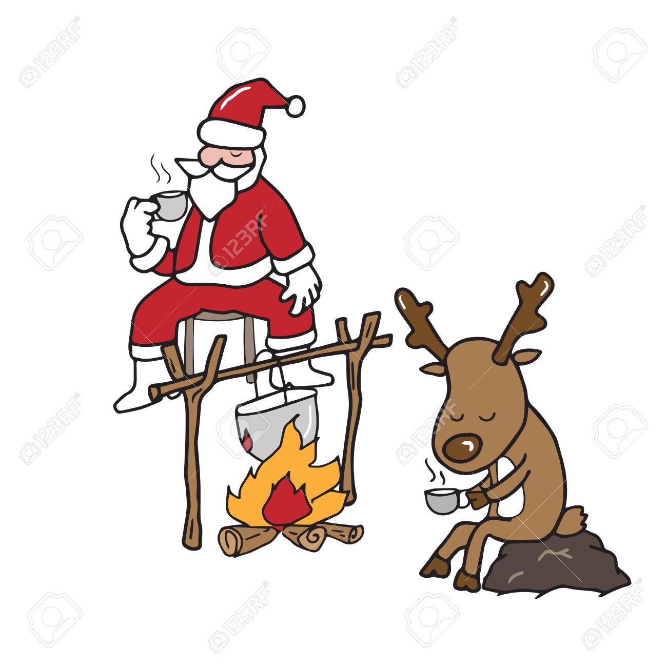 1300x1300 Reindeer Clipart Drinking