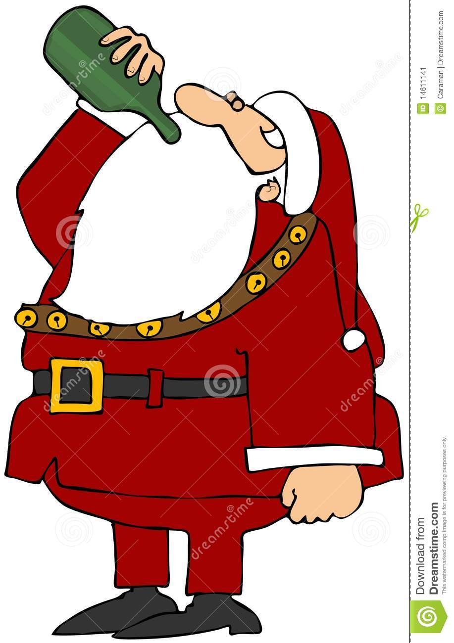 917x1300 Santa Drinking Beer Clipart
