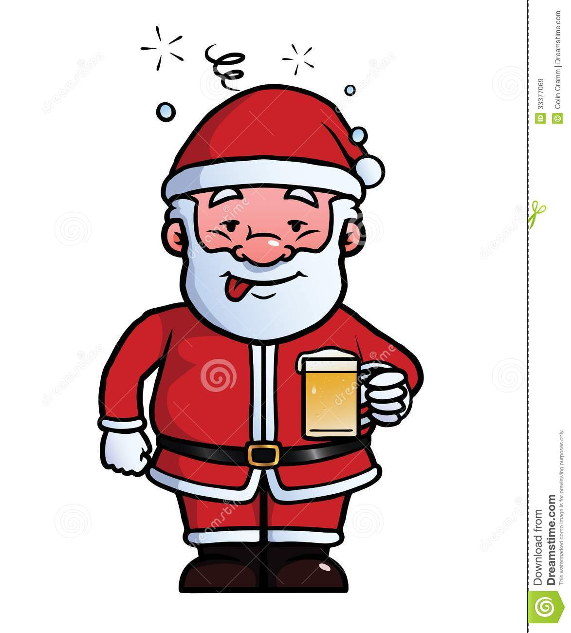 1173x1300 Santa Drinking Beer Clipart