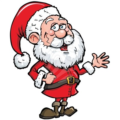 400x400 Santa Cartoon Clipart