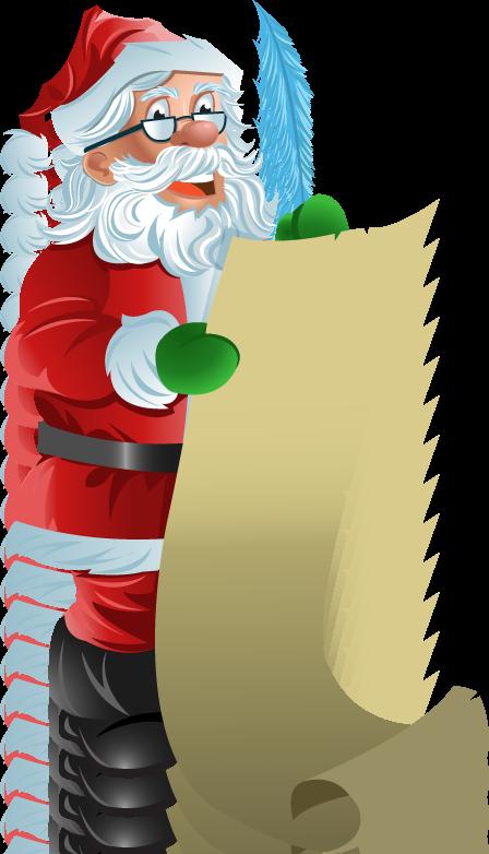 448x782 Santa Checking His List Clipart