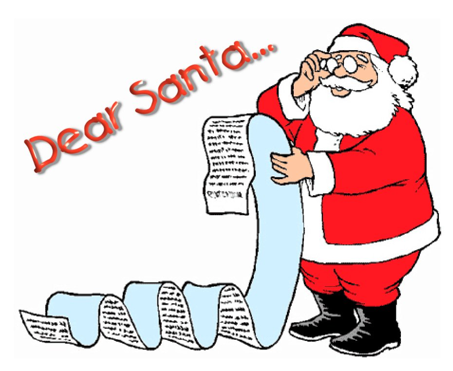 930x762 Santa Wish List Clipart