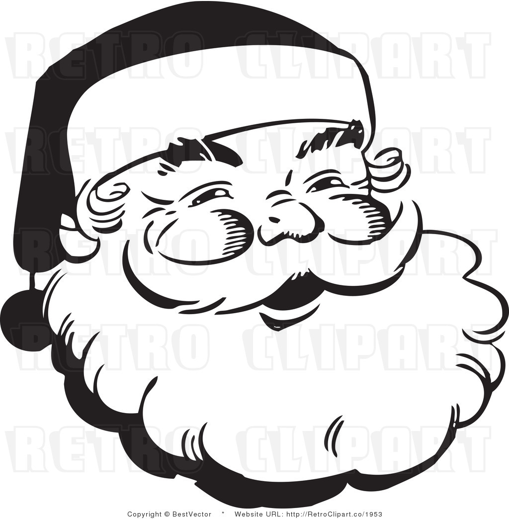 Santa Black And White Clipart Free Download Best Santa Black And