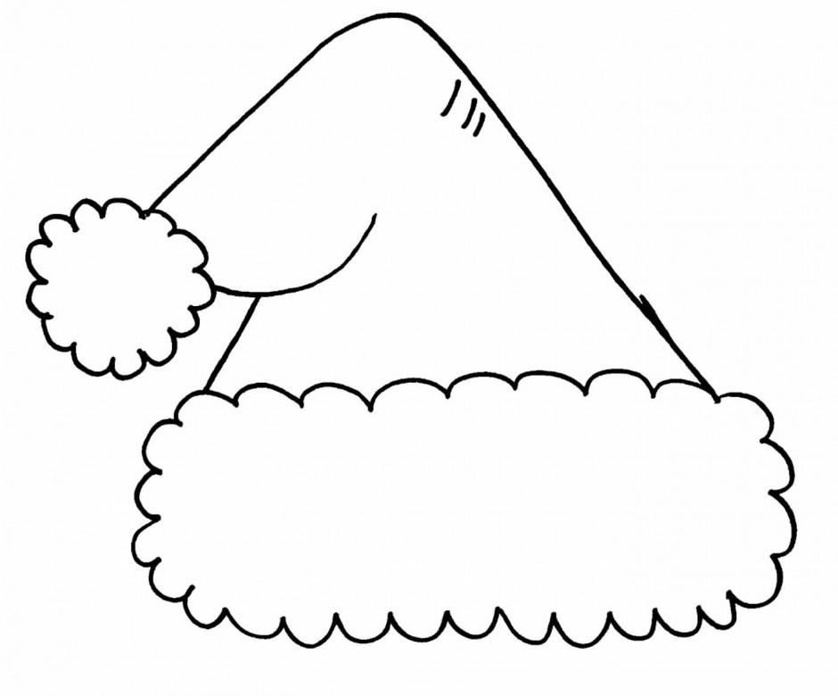 940x780 Hat Black And White Free Santa Hat Clipart Black And White